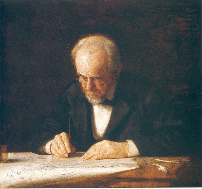 The_writing_master_thomas_eakins
